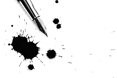 Pen and inkblots