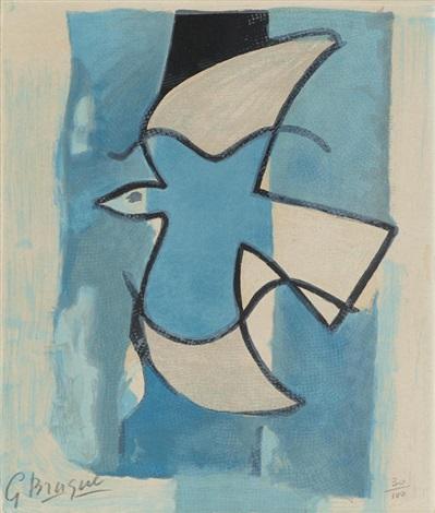 georges-braque-loiseau-bleu-et-gris,-from-loeuvre-graphique-de-georges-braque